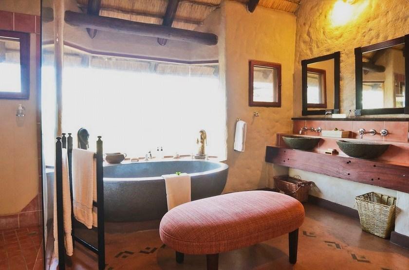 Lukimbi Safari Lodge, Park Kruger, Afrique du Sud, salle de bains