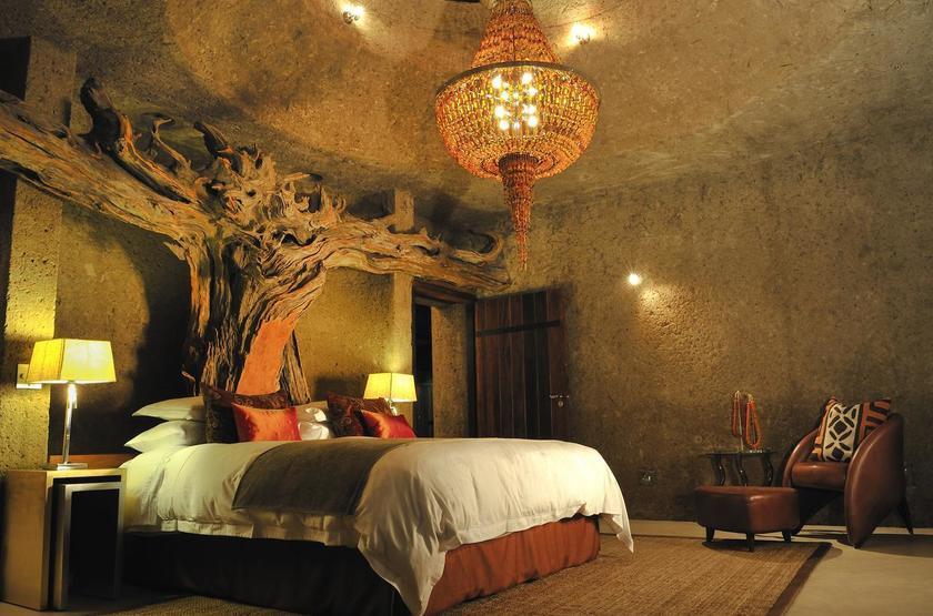 Sabi Sabi Earth Lodge, Sabi Sand Reserve, Afrique du Sud, chambre