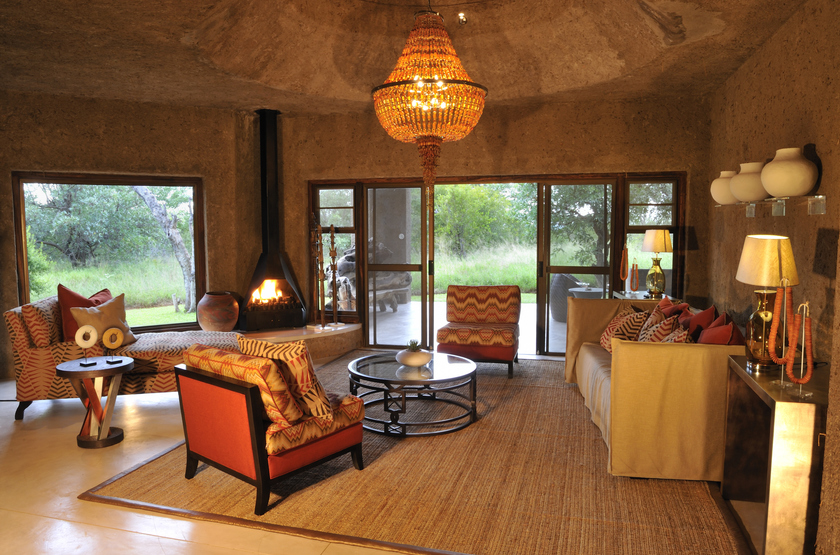 Sabi Sabi Earth Lodge, Sabi Sand Reserve, Afrique du Sud, salon