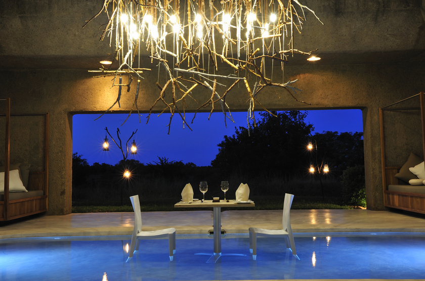 Sabi Sabi Earth Lodge, Sabi Sand Reserve, Afrique du Sud, bar
