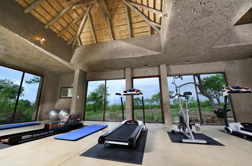 Sabi Sabi Earth Lodge, Sabi Sand Reserve, Afrique du Sud, salle de sport