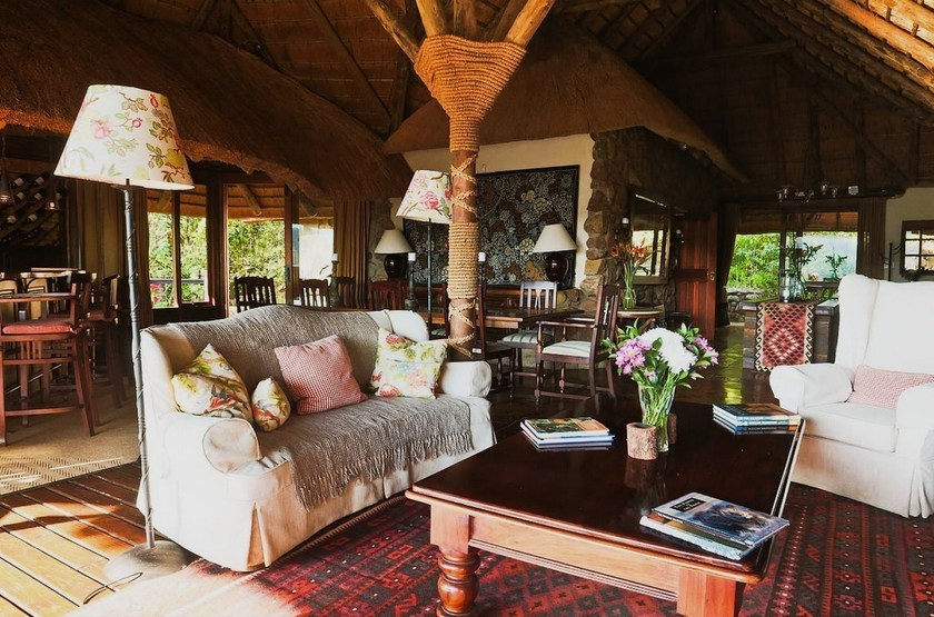 Tanamera Lodge, Hazyview, Afrique du Sud, salon