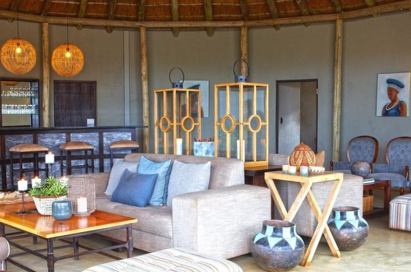 Thanda Safari Lodge, Hluhluwe, Afrique du Sud, bar