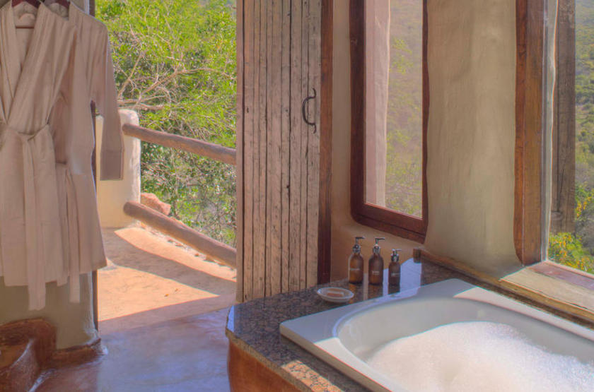 Phinda Rock Lodge, Afrique du Sud, salle de bains