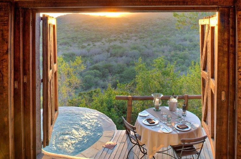 Phinda Rock Lodge, Afrique du Sud, sunset