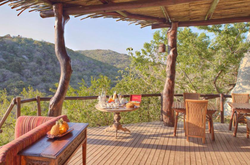 Phinda Rock Lodge, Afrique du Sud, terrasse