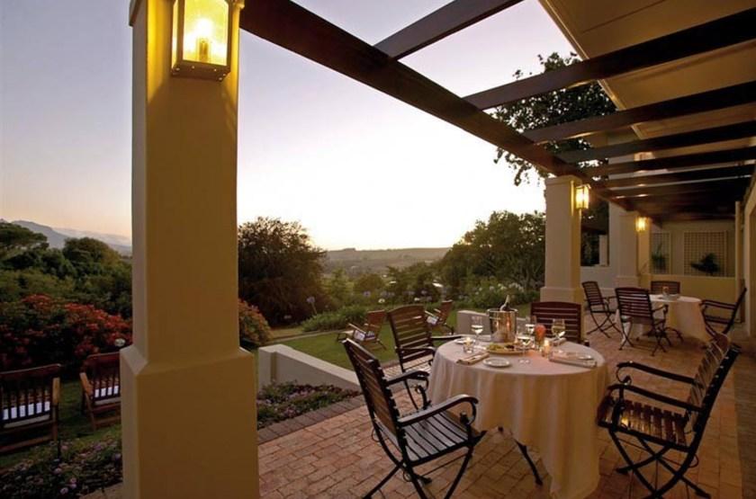 Sugarbird Manor, Stellenbosch, Afrique du Sud, restaurant