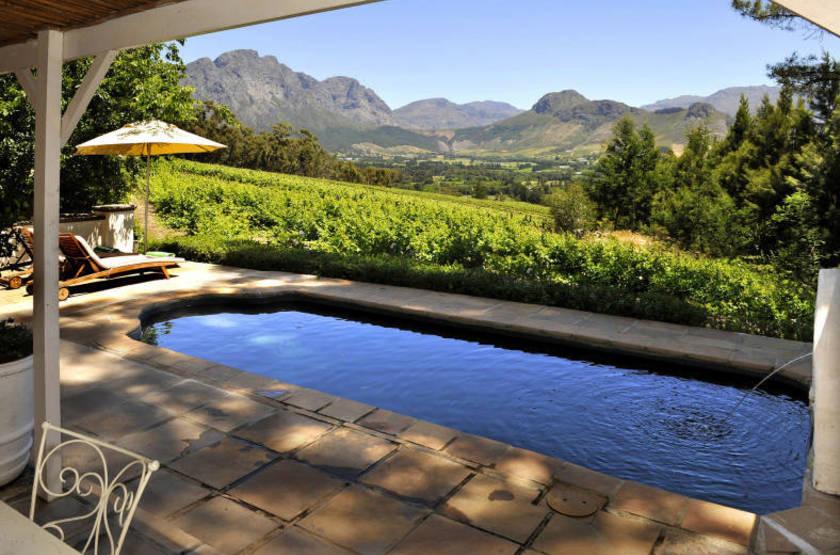 La Petite Ferme, Franschhoek, Afrique du Sud, piscine