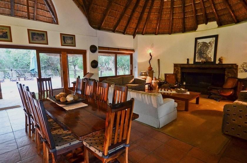 Serondella Lodge, Thornybush, Afrique du Sud, salon intérieur