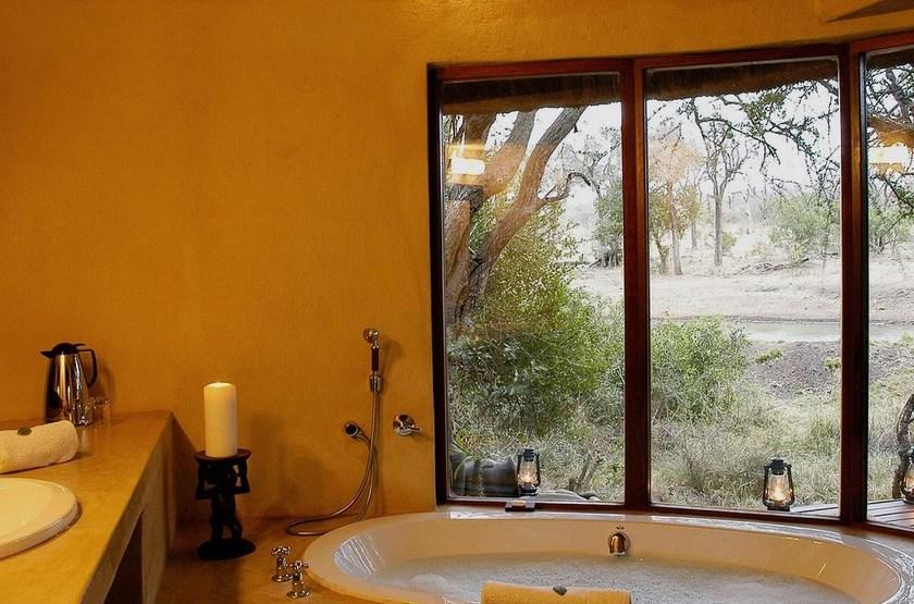 Serondella Lodge, Thornybush, Afrique du Sud, salle de bains