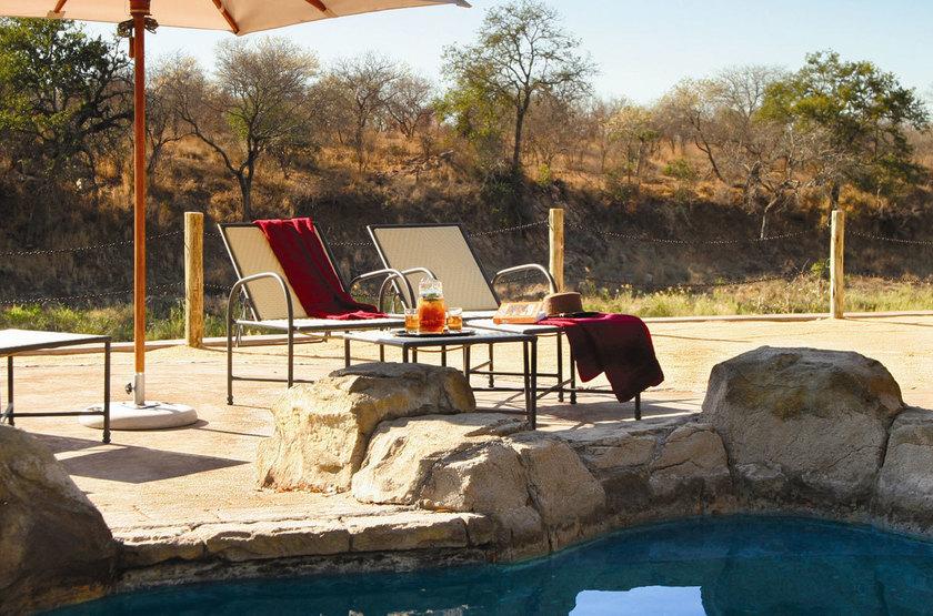 Jock Safari Lodge, Réserve privée Kruger, Afrique du Sud, piscine