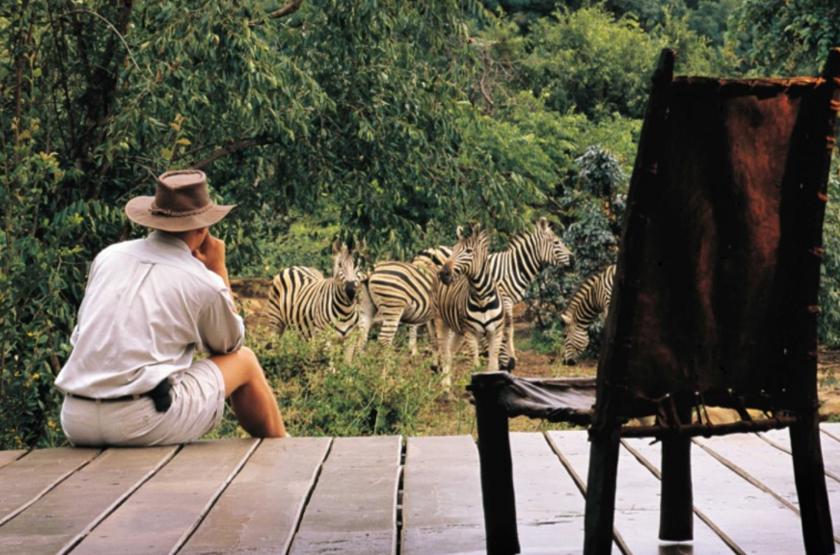Makweti Game Lodge, Welgevonden, Afrique du Sud, terrasse