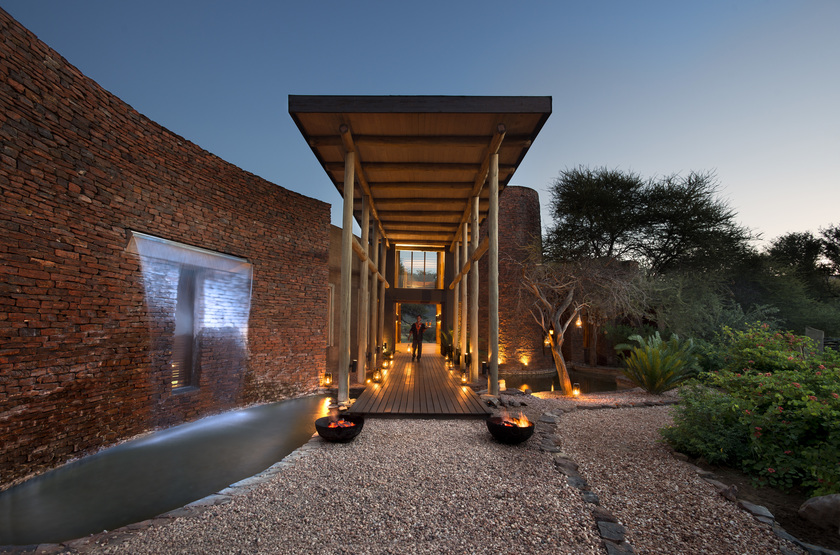 Marataba Safari Lodge, Marakele, Afrique du Sud, entrée