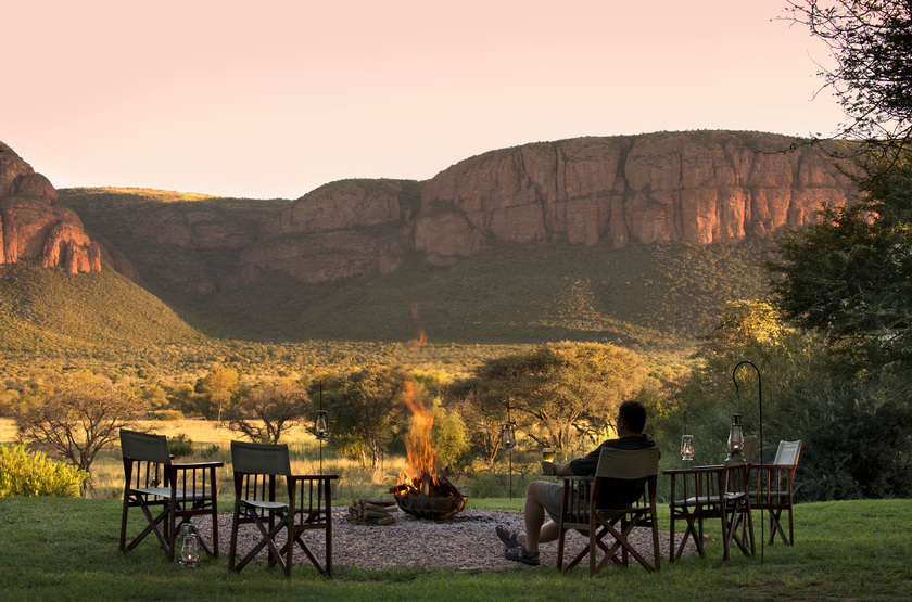 Marataba Safari Lodge, Marakele, Afrique du Sud, camp fire