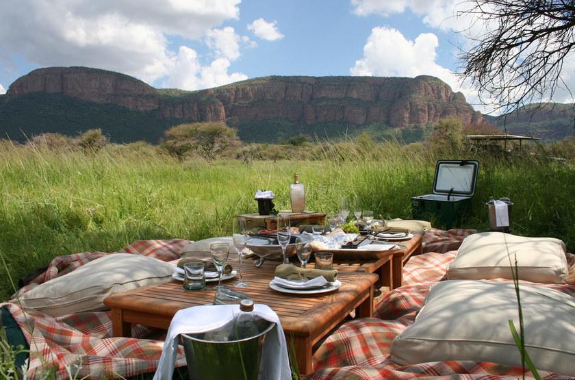 Marataba Safari Lodge, Marakele, Afrique du Sud, pique-nique