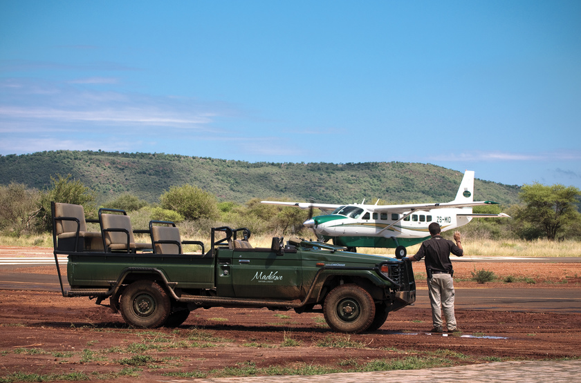 Madikwe Safari Lodge, Afrique du Sud, airstrip