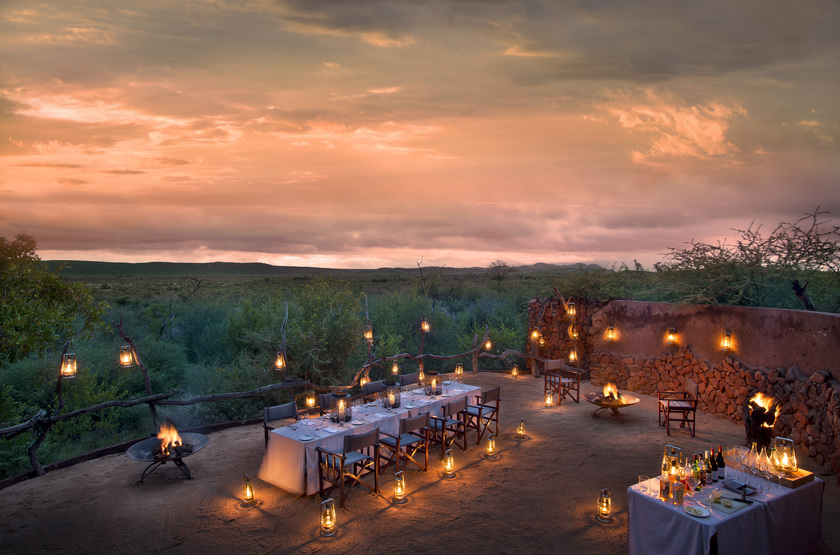 Madikwe Safari Lodge, Afrique du Sud, boma