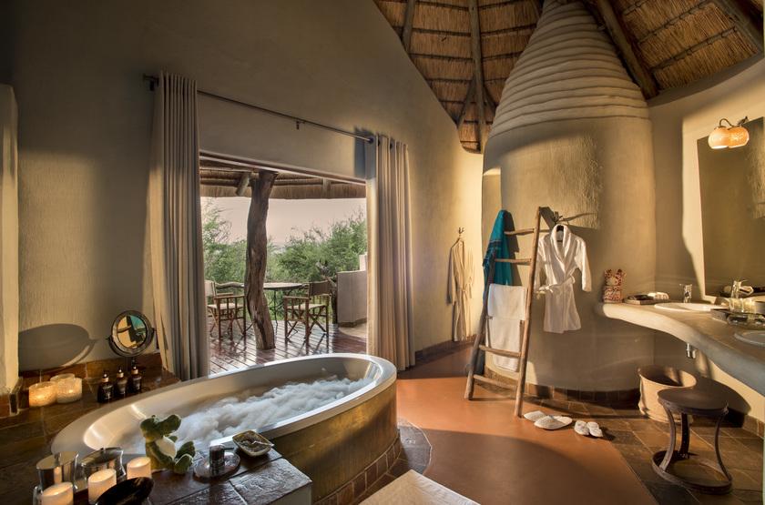 Madikwe Safari Lodge, Afrique du Sud, salle de bains