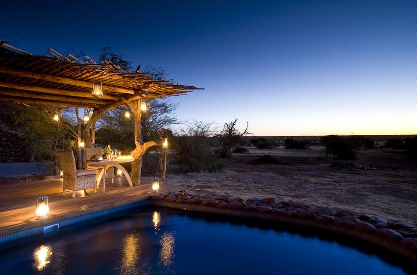 The Mtose Kalahari & Tarkuni, Tswalu, Afrique du Sud, restaunant