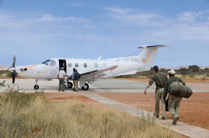 The Mtose Kalahari & Tarkuni, Tswalu, Afrique du Sud, avion taxi