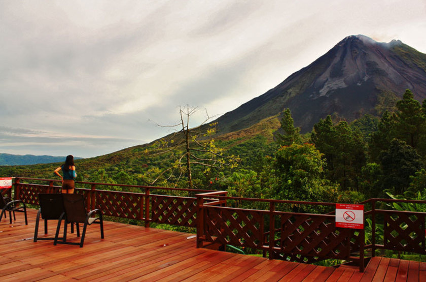 Arenal Observatory Lodge, Costa Rica, terrasse