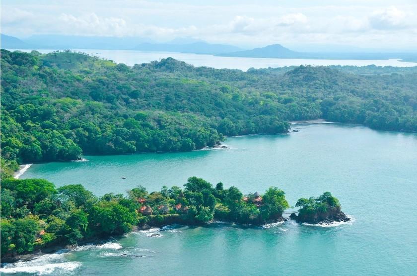 Cala Mia Island Resort, golfe de Chiriquí, Panama, emplacement
