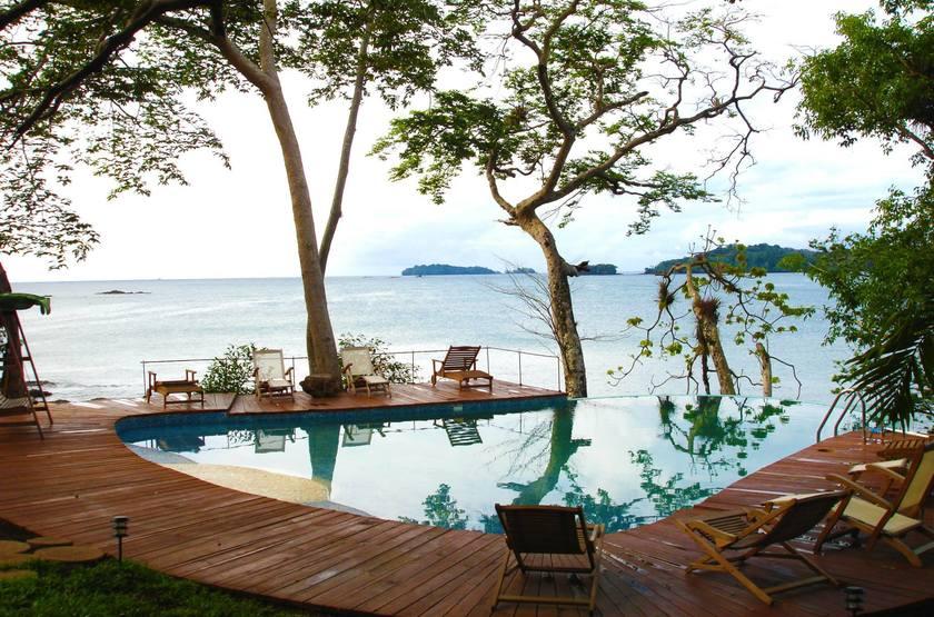 Cala Mia Island Resort, golfe de Chiriquí, Panama, piscine