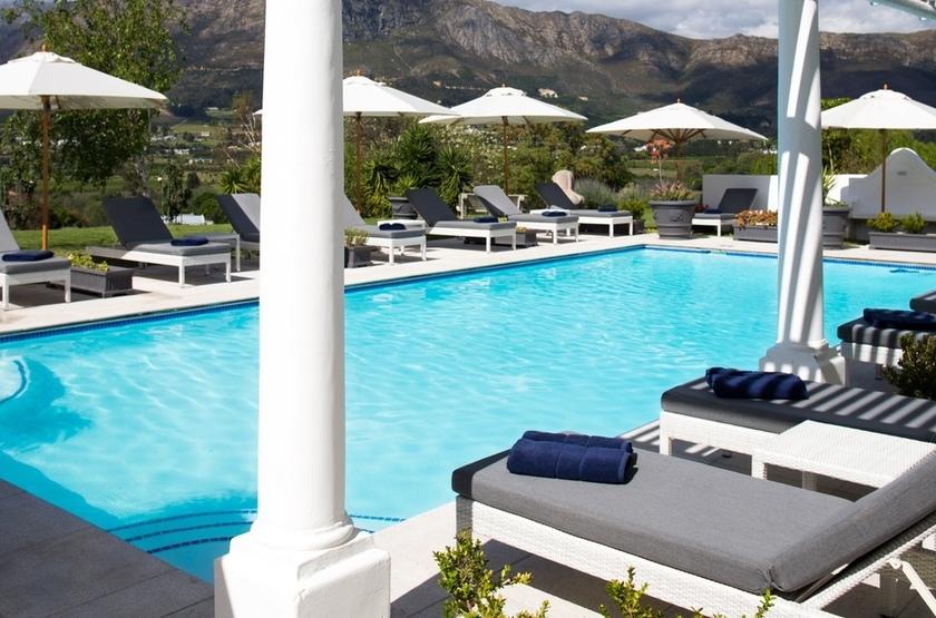 Mont Rochelle, Franschhoek, Afrique du Sud, piscine