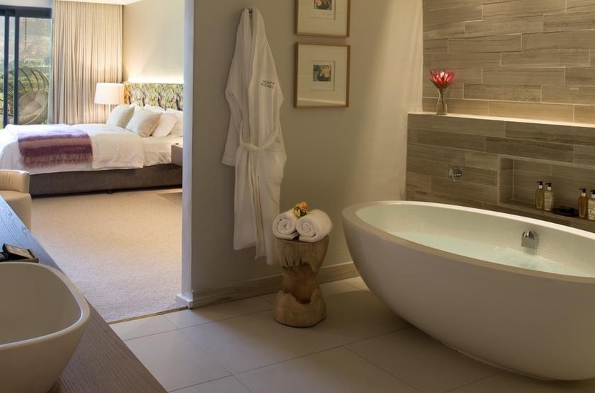 Mont Rochelle, Franschhoek, Afrique du Sud, salle de bains