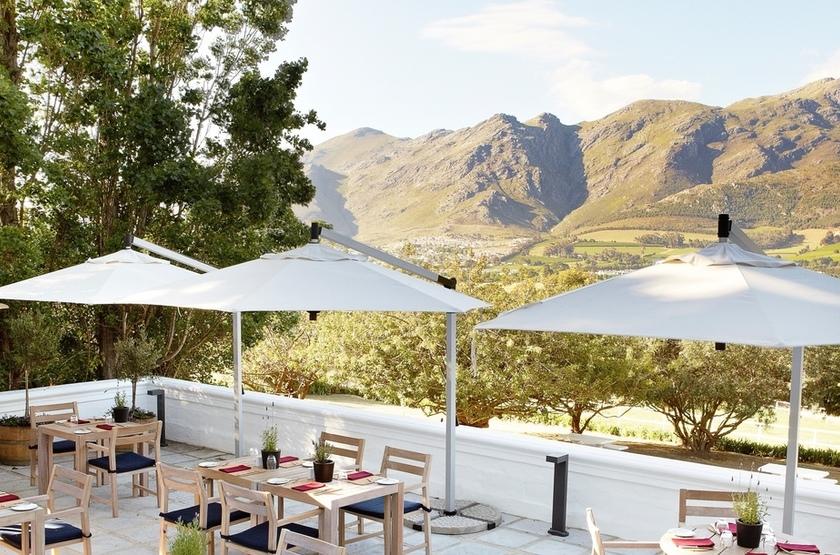 Mont Rochelle, Franschhoek, Afrique du Sud, terrasse