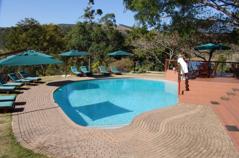 Hulala Lakeside Lodge, lac Da Gama, Afrique du Sud, piscine