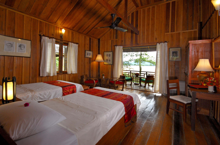 La Folie Lodge, Pakse, Laos, chambre avec terrasse