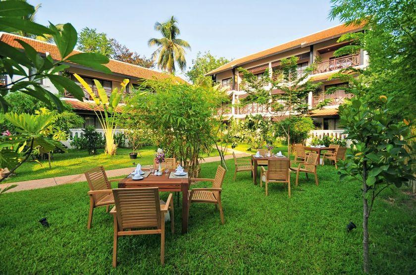Ansara Hotel, Vientiane, Laos, jardin