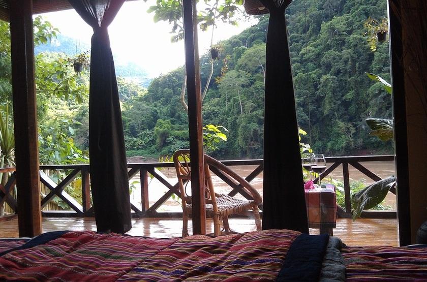 Mandala Ou Resort, Nong Khiaw, Laos, terrasse