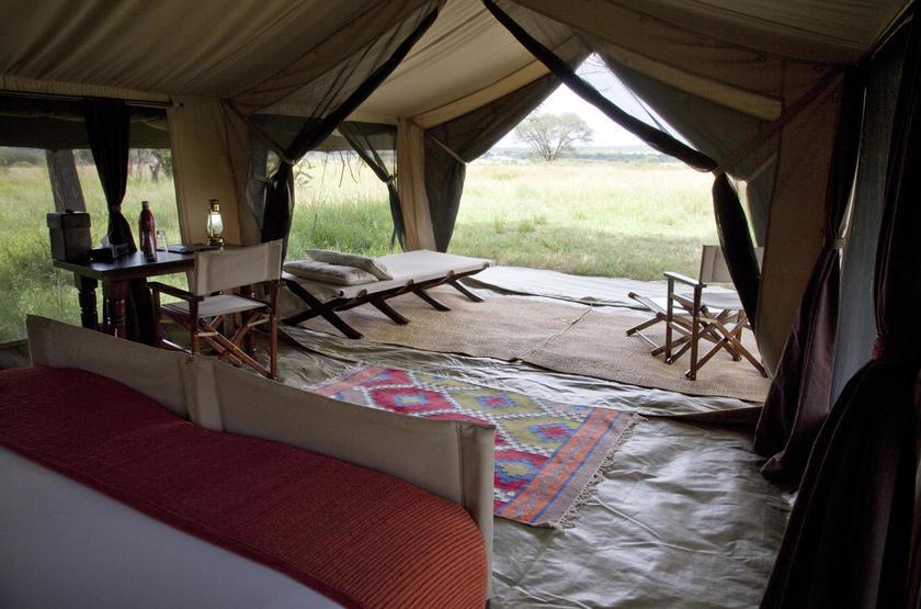 Olakira Mobile Camp, Serengeti, Tanzanie, terrasse tente