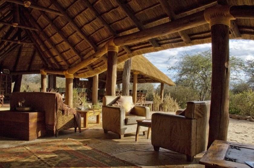 Oliver's Camp, Tarangire, Tanzanie, salon