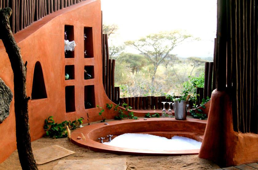Oliver's Camp, Tarangire, Tanzanie, salle de bains