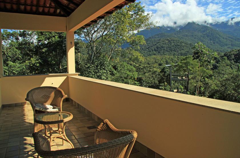 Guapi Assu Bird Lodge, Mata Atlantica, Brésil, terrasse