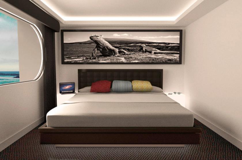 Petrel Luxury Catamaran, Galapagos, Equateur, cabine