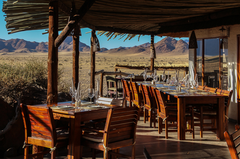 The Desert Homestead et Horse Trails, Sossusvlei, Namibie, restaurant