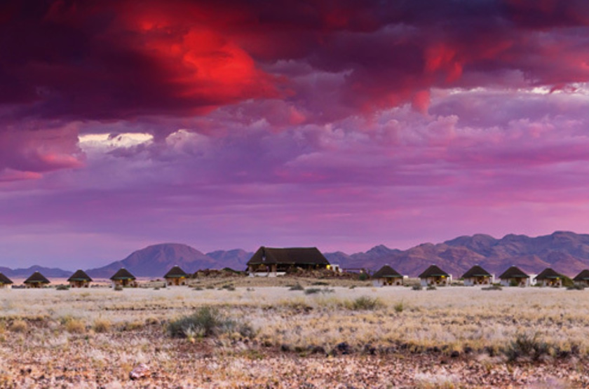 The Desert Homestead et Horse Trails, Sossusvlei, Namibie, vue d'ensemble