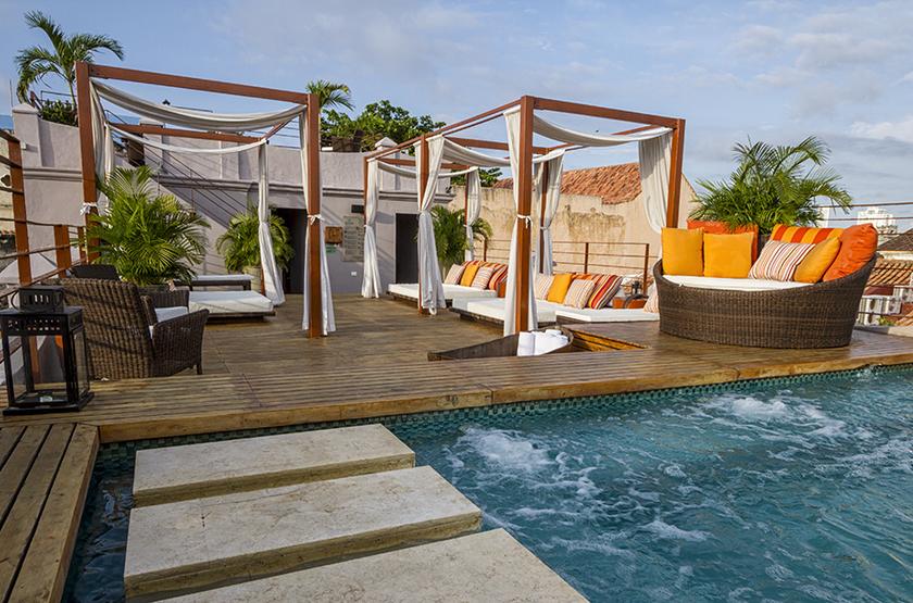 Ananda Boutique Hôtel, Carthagène, Colombie, jacuzzi