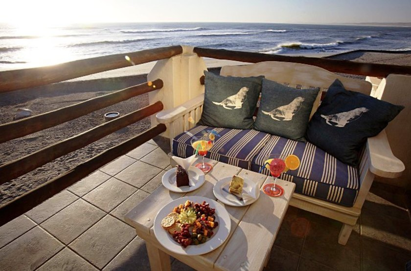 Cape Cross Lodge, Namibie, terrasse