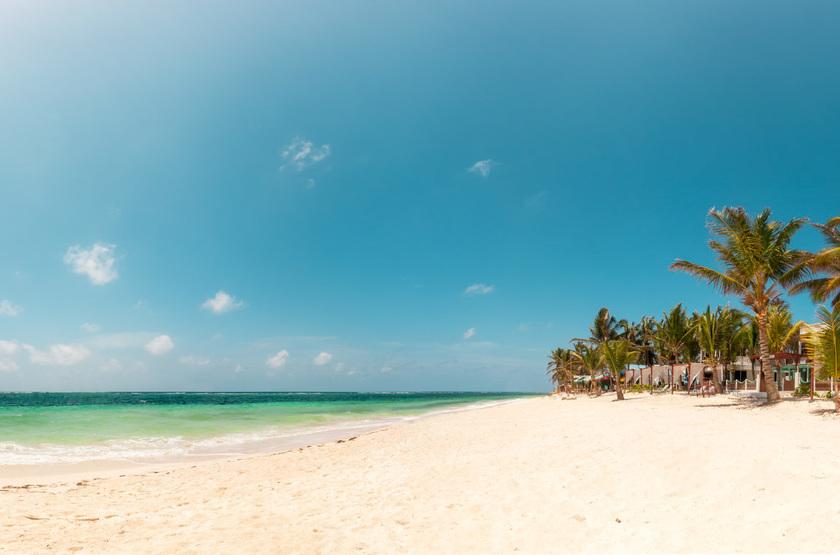 Hotel MS San Luis Village, Ile de San Andres, Colombie, plage
