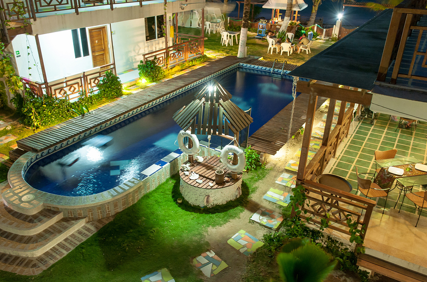 Hotel MS San Luis Village, Ile de San Andres, Colombie, piscine