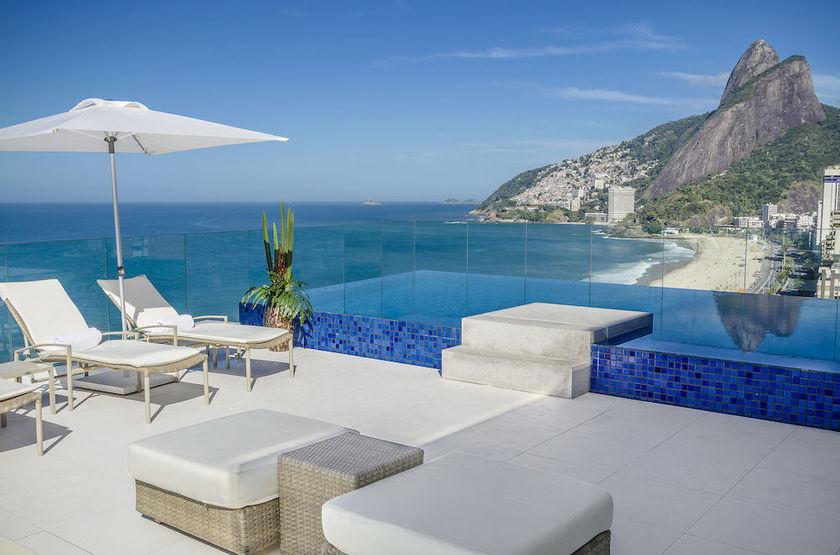 Praia Ipanema Hotel, Rio, Brésil, piscine