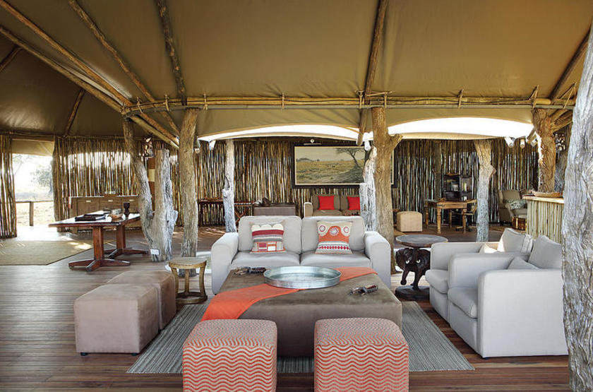 Anabezi Luxury Tented Camp, Lower Zambezi, lounge