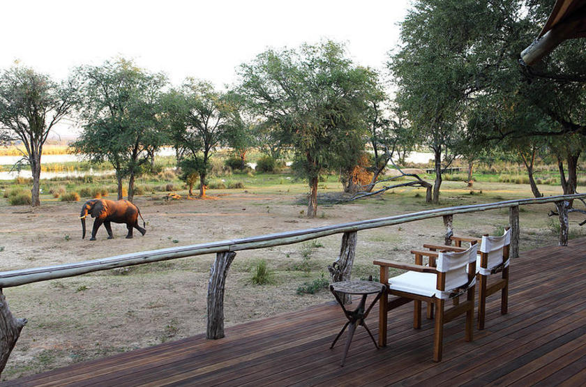 Anabezi Luxury Tented Camp, Lower Zambezi, , terrasse