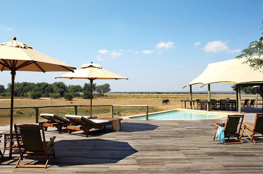 Anabezi Luxury Tented Camp, Lower Zambezi, piscine