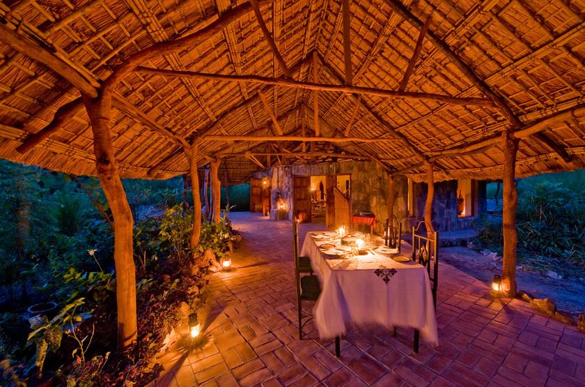 Nkwichi Lodge, Lac Malawi, restaurant